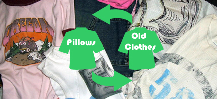old clothes pillows