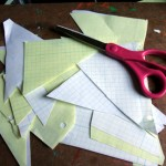 Cut or tear scratch paper into shreads. We're using an old ledger we found walking the dogs.