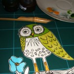 Ooops, extra step: After it was cut, I decided I wanted to color my picture.I would have colored BEFORE I cut, had I known.