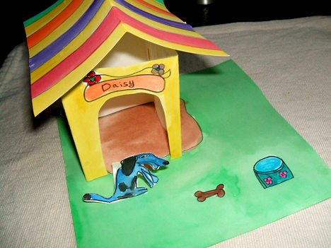 paper doghouse