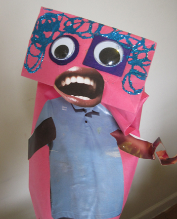 silly paper bag puppet