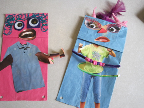 silly paper bag puppets