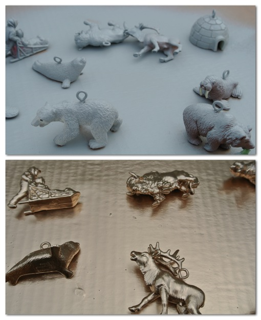 diy golden animal ornaments